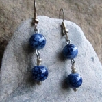 Round Blue Beads and Silver Beads